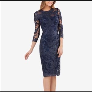 NWT JS Collections Embroidered lace sheath dress🌺